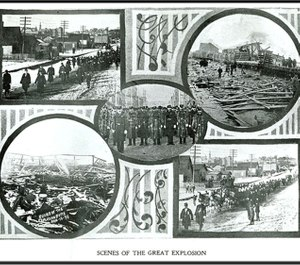 An explosion in Butte, Montana in 1895 killed at least 58 people, including 13 firefighters. The victims of the