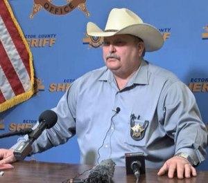 Ector County Sheriff Mike Griffis held a press conference Tuesday, May 5, 2020 about the arrests made at a bar in West Odessa. (Photo/TNS)