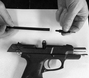 The parts are made in the USA of military-grade polymer with a hardened steel rod inside of the barrel lock to prevent drilling it out or breaking it off. (PoliceOne Image)