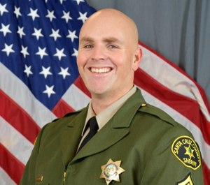 Santa Cruz County Sheriff's Sgt. Damon Gutzwiller was killed in the line of duty Saturday evening in Ben Lomond after responding to a report of a suspicious van that had guns and explosives inside. (Photo/ODMP)