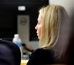 Former Dallas police officer Amber Guyger listens as friends, family and coworkers speak in her defense during the sentencing phase of her murder trial. (Photo/AP)