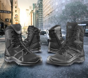 HAIX Black Eagle series tactical and athletic boots for law enforcement.