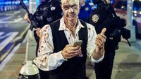 A year after attack, NYPD out in force for Halloween