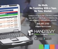Pediatric Emergency Standards launches e-Handtevy Mobile at EMS World Expo