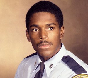 This undated photo shows Harold Preston as a young Houston police officer.