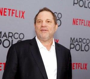 In this Dec. 2, 2014, Harvey Weinstein attends the season premiere of the Netflix series