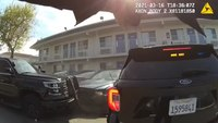 Video: Suspect rams 2 police cars before deadly shooting