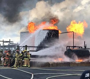 ExxonMobil partnered with the Texas A&M Engineering Extension Service (TEEX) to provide hazardous liquids emergency response training courses in August and October. The third course will be held January 11-12. (Photo/Nueces County ESD #4 / Bluntzer Fire Facebook)