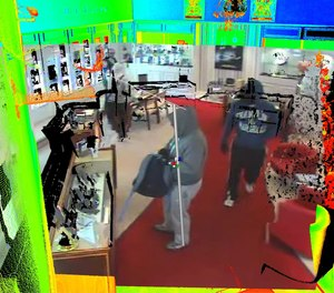 By stitching 3D laser scans and CCTV together, and adding some basic trigonometry techniques, a suspect's height could be assessed much more accurately.