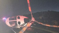 Medical helicopter struck by drunk driver on highway