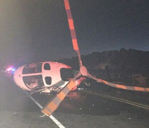 N.M. helicopter struck and tipped over by an impaired driver.