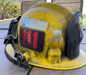 Our helmets are made of polycarbonate, which can melt at 450 degrees.