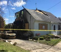 Mich. paramedic's house destroyed by fire