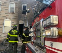 6 firefighters hurt in Baltimore blaze