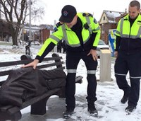 Medics respond to 'Homeless Jesus' laying out in the cold