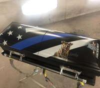Fallen K-9 honored with hand-painted custom casket