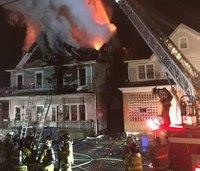 Pa. firefighter suffers burns to ears in house blaze