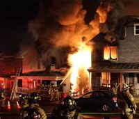Pa. firefighter injured battling duplex blaze