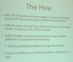 Interactive training is absolutely necessary if you want people use their ePCR software effectively.