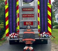 Firefighters gather to honor Mass. fire captain for dedication to family, profession