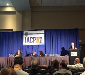 A panel speaks on the success of pre-arrest diversion programs for drug addicts at IACP 2017.