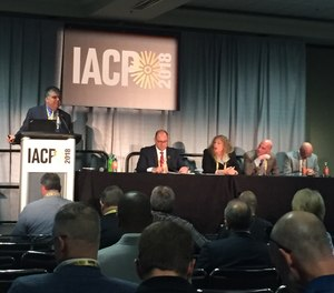 In this photo, police leaders share their strategies for battling the recruitment crisis with IACP attendees.