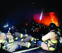 Simulator gives firefighters a glimpse into an inferno
