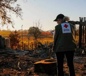 The American Red Cross has put out a call for licensed EMS providers and other healthcare professionals to volunteer during California's wildfire season. (Photo/American Red Cross)