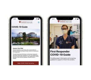 The First Responder COVID-19 Guide app, developed by Stanford Medicine, seeks to provide up-to-date, reliable COVID-19 information for first responders and allow them to screen their symptoms to determine if they should be tested. (Photo/Stanford Medicine)