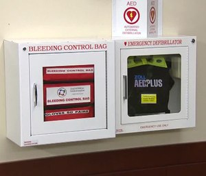 he kits, paid for with federal grant money, will be installed next to already existing defibrillator kits in city facilities, community centers and parks. (Photo/Washington University)