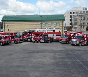 Delaware County EMS operates one of two ambulance services in the county seat of Muncie. The other is run by the Muncie Fire Department. (Photo/Delaware County Emergency Medical Services Facebook)