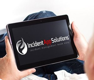 The software can be used on a basic iPad. (Photo/Incident App Solutions)
