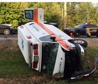 Ind. ambulance involved in rollover crash