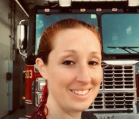 Texas Lt. hurt in severe fire truck crash back on the job