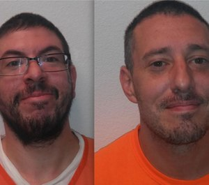 Jerry Williams and Bryan Webb stole a deputy's radio and keys before lacking her inside a cell and escaping custody. (Photo/Custer County Sheriff's Office)