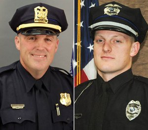 Sgt. Anthony Beminio, left, and Officer Justin Martin (Photo/Des Moines Police)