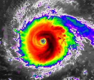 Hurricane Irma is one of the strongest Atlantic storms on record. (Photo/NOAA)
