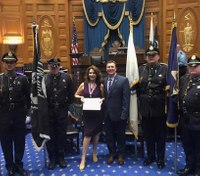 Jail nurse honored for helping stop inmate attacking CO