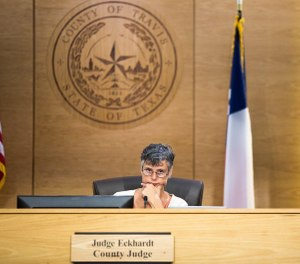 """As Travis County commissioners evaluated the effectiveness of a jail diversion program Tuesday, County Judge Sarah Eckhardt said: """"I have no doubt in my mind that y'all have moved the needle on it. I just don't know how much."""" [ELI IMADALI/AMERICAN-STATESMAN]"""