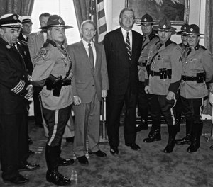 Jim Kauffman (third from left) during his tenure as the Massachusetts state fire marshal.