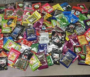 Packets of synthetic marijuana (AP Photo/New York Police Department)