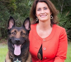 Pictured is K9s United founder Debbie Johnson.