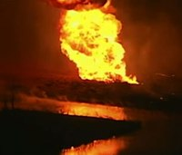 Gas pipeline rupture sparks fire in Mo.; no injuries