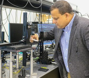 Kausik Mukhopadhyay, a senior lecturer and researcher at UCF's Department of Materials Science and Engineering, is working to develop a sensor that remotely detects fires and dangerous chemicals. (Photo/University of Central Florida)