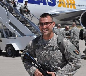 Bloomfield Firefighter and Army Staff Sgt. Kenny Hall recently returned home from his third tour of duty in the Middle East. He has been a member of the Bloomfield Fire Department since 2012.