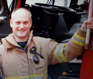 The family of Kevin Hauber, a firefighter who died of colon cancer, was awarded his annual salary of $101,000 by the Buffalo Grove Firefighters Pension Board. (Photo/Buffalo Grove Fire Department)
