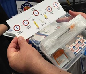 The King County EMS epinephrine injection kit.