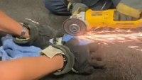 Video: Texas FFs free kitten stuck in pipe