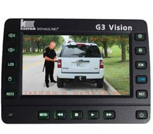 Kustom Signals Inc. created this alternate monitor controller to mount almost anywhere without interfering with existing backup camera systems. (Photo courtesy Kustom Signals, Inc.)
