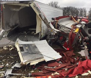Firefighters were responding to a call when the crash occurred. (Photo/Kentucky State Police)